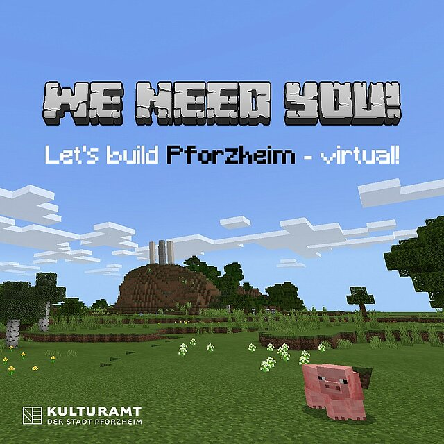 We need you - Minetest Bild